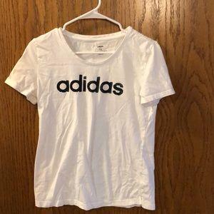 Adidas white tee